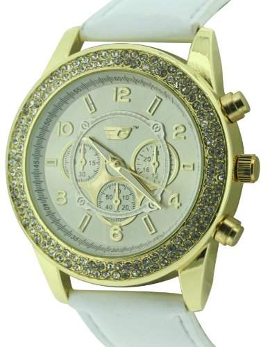 GOLDDIGGA Damen-Armbanduhr Analog Kunststoff Weiss DIG57B