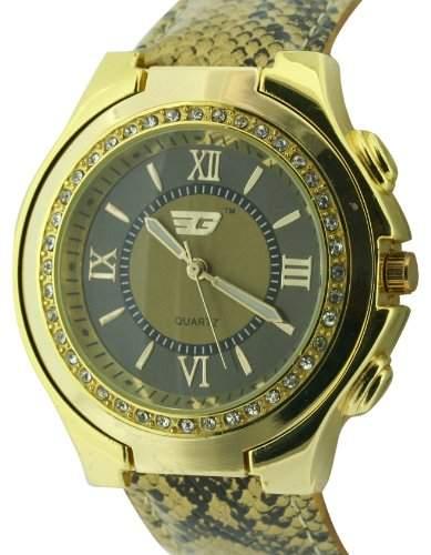 GOLDDIGGA Damen-Armbanduhr Analog Kunststoff Braun DIG62B