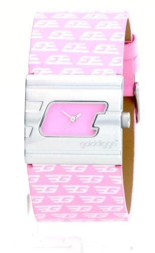Top stylishe Golddigga Damenuhr mit rosa Armband und passendem Etui ARGD 500061