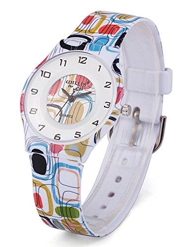 Zeiger a2z014 leicht duenn Frauen Maedchen Uhr mit Fashion Weiches Silikon Pebble