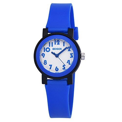 ZEIGER Kinder Uhr Blau Analog Quarz Sportuhr KW075