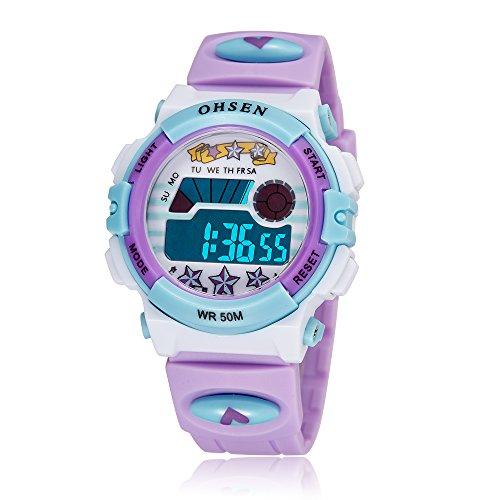 ZEIGER Kinderuhr Digital Sportlich Datum Alarm Maedchen Uhr KW063