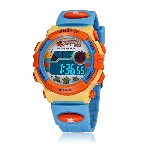 ZEIGER Kinderuhr Digital Sportuhr Datum Alarm Jungen Uhr KW061