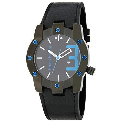 Bruno Banani Armbanduhr fuer Herren schwarzblau Seth Uhren Kollektion UBR22072