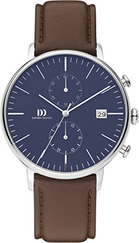 Danish Design Herren Armbanduhr Analog Quarz Leder IQ42Q975