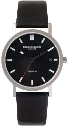Danish Design Herren Armbanduhr Analog Leder schwarz DZ120013