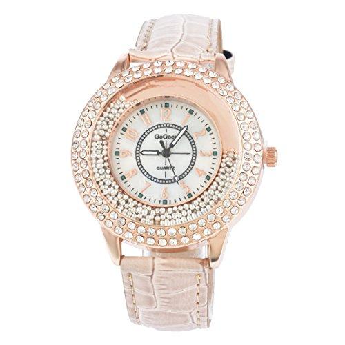 Souarts Damen Braun Treibsand Armbanduhr Quartzuhr Sommer Uhr Quartzuhr Analog mit Batterie