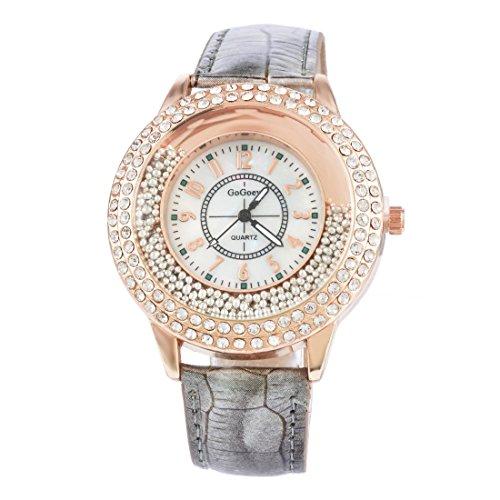 Souarts Damen Grau Treibsand Armbanduhr Quartzuhr Sommer Uhr Quartzuhr Analog mit Batterie