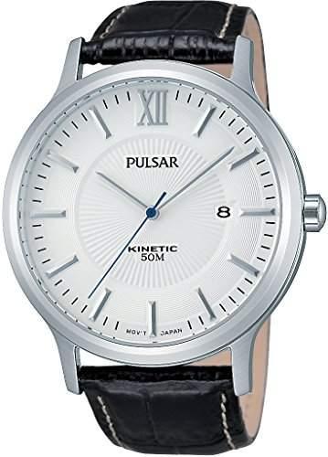 Pulsar Herren-Armbanduhr Analog Quarz Leder PAR187X1