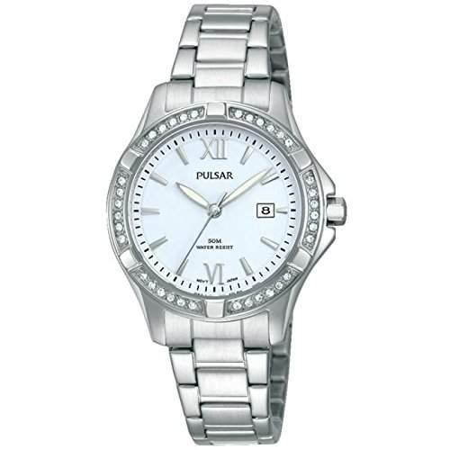 Pulsar Womens Silver Stainless Steel Bracelet Watch PH7409X1
