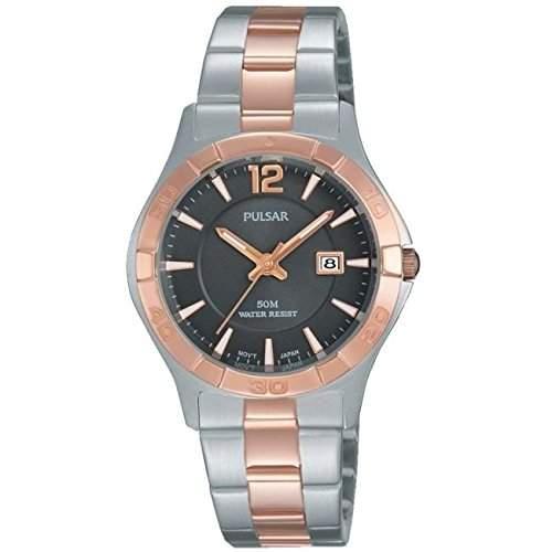 Pulsar Womens Two Tone Stainless Steel Bracelet Watch PH7430X1