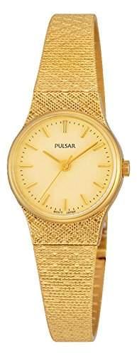 Pulsar Damen-Armbanduhr Analog Quarz Edelstahl beschichtet PK3036X1