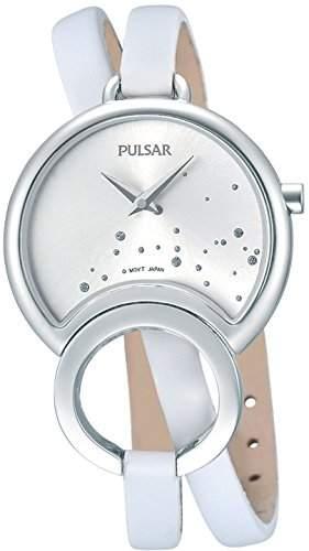 Pulsar Damen-Armbanduhr Analog Quarz Leder PM2049X1