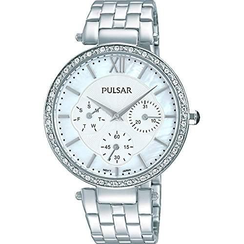 Pulsar Womens Silver Stainless Steel Bracelet Watch PP6211X1