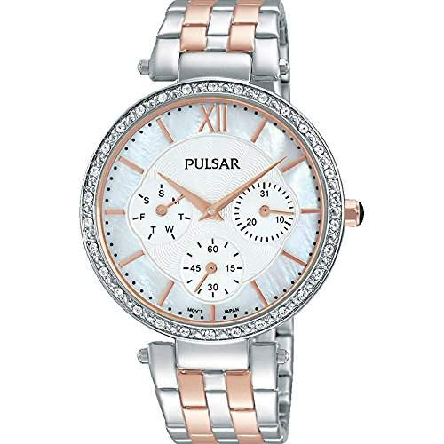 Pulsar Womens Two Tone Stainless Steel Bracelet Watch PP6213X1
