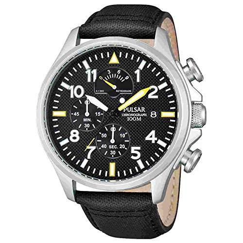 Pulsar Uhren Herren-Armbanduhr XL Sport Chronograph Quarz Edelstahl PS6053X1