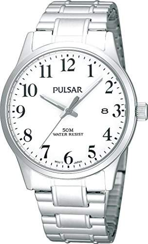 Pulsar Uhren Herren-Armbanduhr XL Klassik Analog Edelstahl PS9015X1