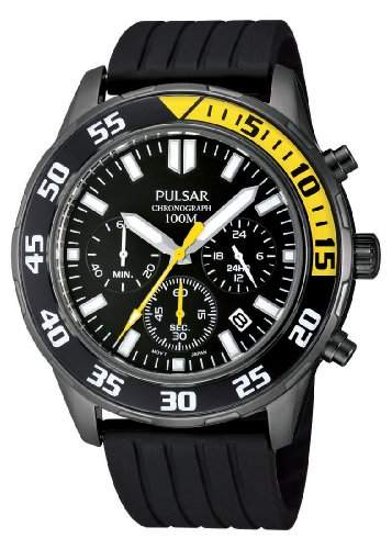 Pulsar Uhren Herren-Armbanduhr XL Sport Chronograph Quarz Kautschuk PT3243X1