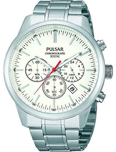 pt3245 X 1 PULSAR MENS GENTS 100 m Wasser resistent Chronograph Armband Armbanduhr