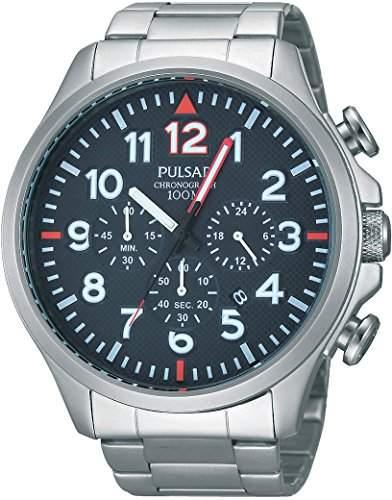 Pulsar Herren-Armbanduhr Analog Quarz Edelstahl PT3319X1