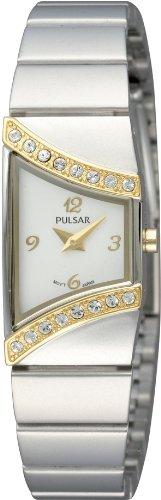 Pulsar Uhren Damen Armbanduhr Avantgarde Analog Quarz Edelstahl PEGG36X1