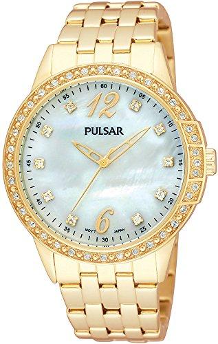 Pulsar Damen Armbanduhr Analog Quarz Edelstahl beschichtet PH8052X9
