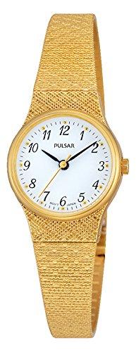 Pulsar Damen Armbanduhr Analog Quarz Edelstahl beschichtet PK3038X1