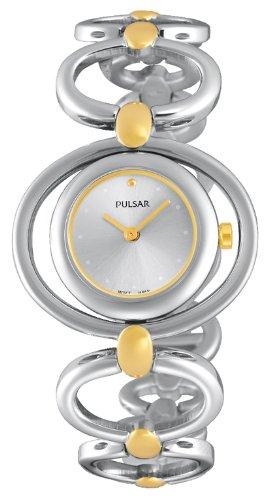 Pulsar Damen Armbanduhr XS Modern Analog Quarz Edelstahl beschichtet PM2064X1