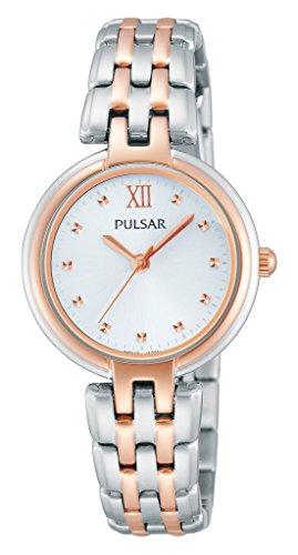 Pulsar Damen Armbanduhr XS Modern Analog Quarz Edelstahl PH8116X1