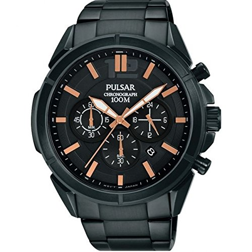 Pulsar Gents Chronograph Black Ion Watch