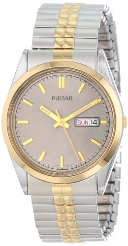 Pulsar Herren Armbanduhr Analog Quarz Edelstahl PXF110