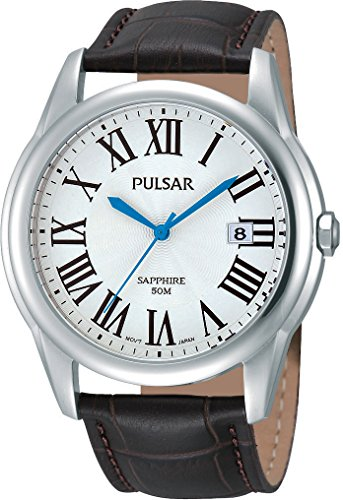 Pulsar Herren Armbanduhr Analog Quarz Leder PS9181X1