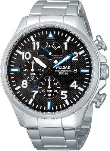 Pulsar Uhren Herren Armbanduhr XL Sport Chronograph Quarz Edelstahl PS6049X1