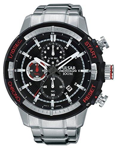 Pulsar Herren Armbanduhr Chronograph Quarz Leder PM3047X1