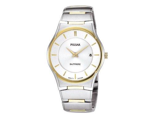 Pulsar Uhren Herren Armbanduhr XL Modern Analog Quarz Edelstahl beschichtet PVK120X1