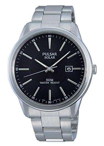 Pulsar Herren Armbanduhr XL Modern Analog Quarz Edelstahl PX3023X1