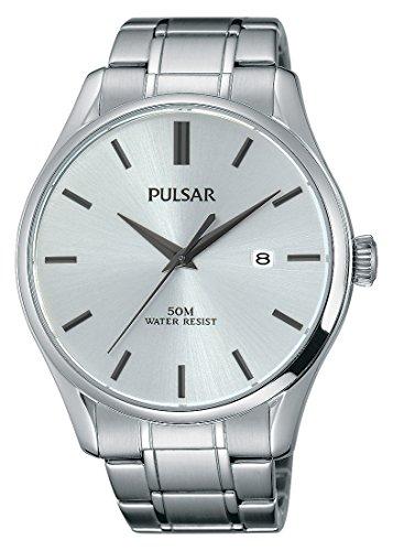 Pulsar Herren Armbanduhr Analog Quarz Edelstahl PS9421X1