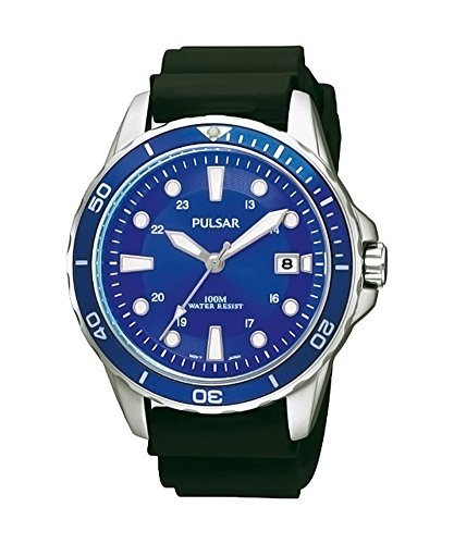 Pulsar Uhren Herren Armbanduhr XL Sport Analog Quarz Leder PXH903X1