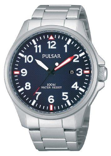 Pulsar Uhren Herren Armbanduhr XL Sport Analog Quarz Edelstahl PG8219X1