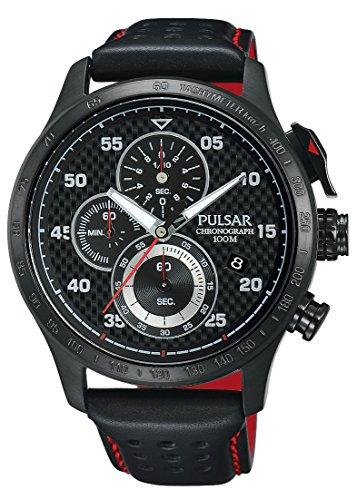 Pulsar Herren Armbanduhr WRC Chronograph Quarz Leder PM3043X1