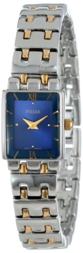 Pulsar PEG363 Womens Blue Dial Two Tone Stainless Steel Watch