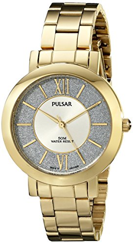 Pulsar Damen pg2002 X Everyday Wert Analog Display Japanisches Quartz Gold Watch