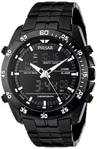 Pulsar PW6011 Herren Armbanduhr mit Analog Display Japanisches Quarz schwarz