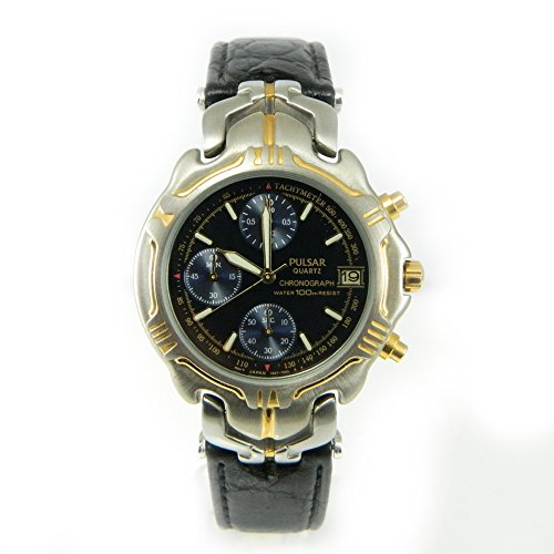 Pulsar Watch Quartz Herren Uhr Chrono Stahl PJN008 reloj Herrenuhr Montre