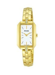 Pulsar Night Out two hand Edelstahl Goldfarbene Damen Armbanduhr prw004 X