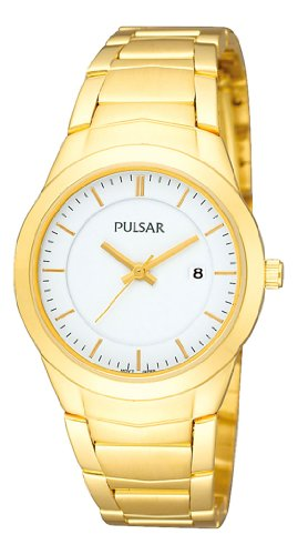 Pulsar Watches Ladies Gold Steel Bracelet Watch