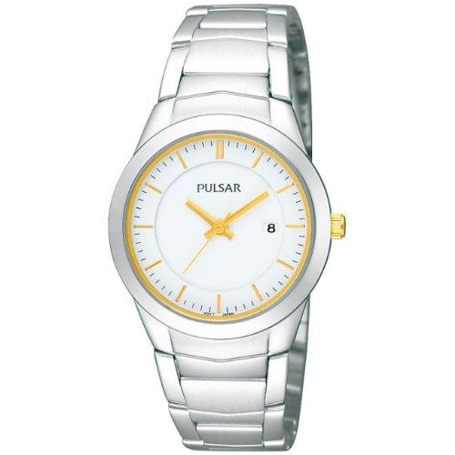 Pulsar Womens Silver Stainless Steel Bracelet Watch PH7285