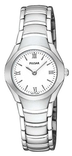 Pulsar Womens Silver Stainless Steel Bracelet Watch PEGE49X1