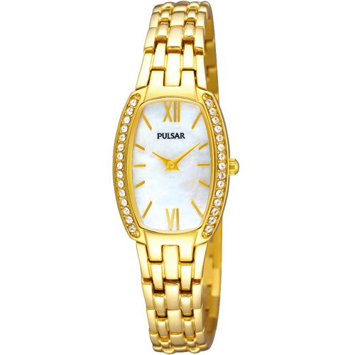 Pulsar Womens Gold Stainless Steel Bracelet Watch PTA494X1