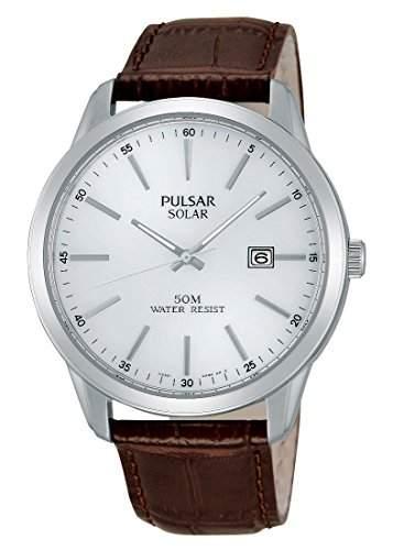 Pulsar Herren-Armbanduhr XL Modern Analog Quarz Leder PX3027X1